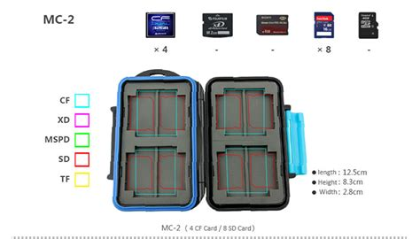 Diskon Jjc Mc 2 Memory Card jjc mc 2 rubber sealed water resistant memory card for 4 cf cards 8 sd card ebay