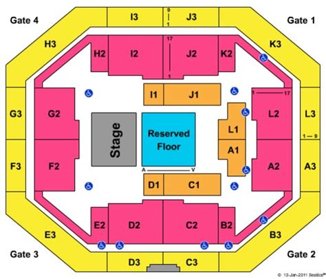 stephen o connell center seating chart stephen c o connell center tickets in gainesville florida