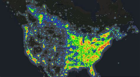Light Map by Pics For Gt Light Pollution Map Interactive