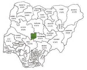 36 nigeria map showing states