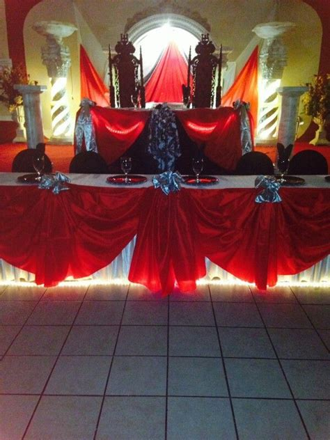 quinceanera themes red damask red theme quincea 241 era table damask red theme