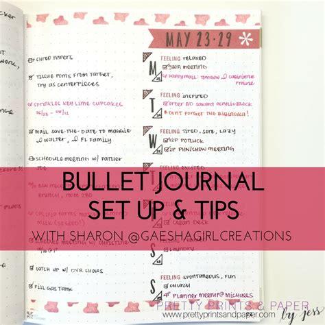 bullet journal tips sharon s bullet journal setup tips pretty prints paper