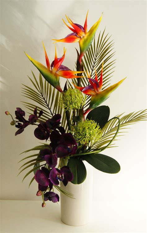 flower design ideas artificial floral arrangements for interior decor exotic