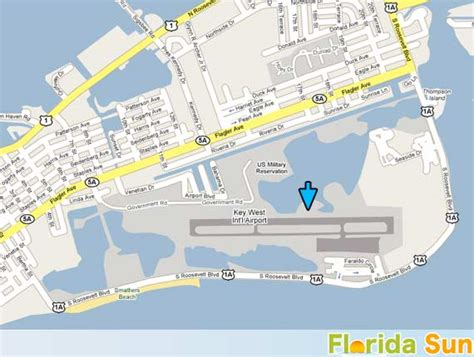 florida airport map key west international airport rental car map