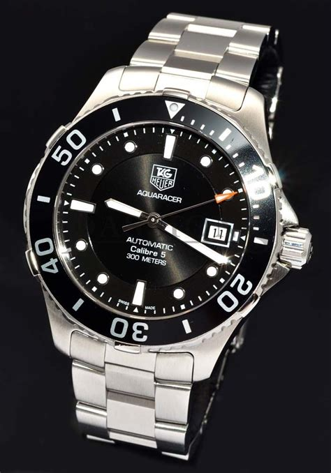 """Tag Heuer, 42mm """"AquaRacer Calibre 5"""" 300m auto/date Ref.WAN2110 in Steel   Passions Watch"""