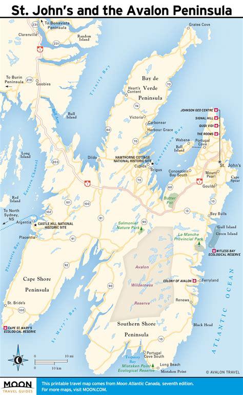 Printable Map Of Atlantic Canada