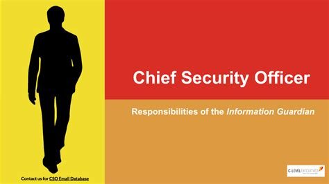 Chief Security Officer by Duties Of Chief Security Officer Authorstream