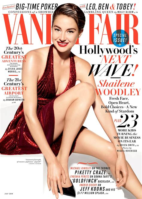 shailene woodley vanity fair magazine july 2014 issue