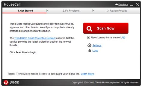 housecall trend list of free on demand virus scanners