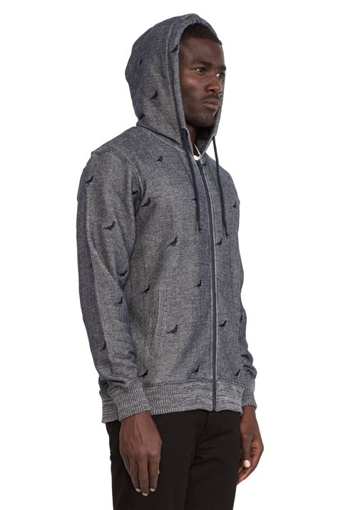 Fashion Find Staple Sweater by Staple Repeat Pigeon Zip Hoodie In Blue For Lyst
