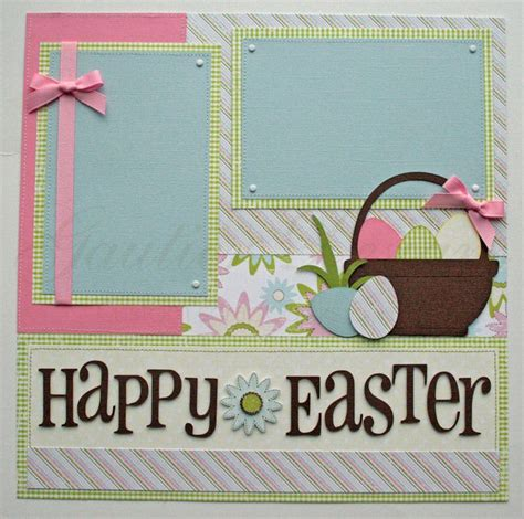 Scrapbook Layout Easter   scrapbook pages happy easter 12x12 premade scrapbook