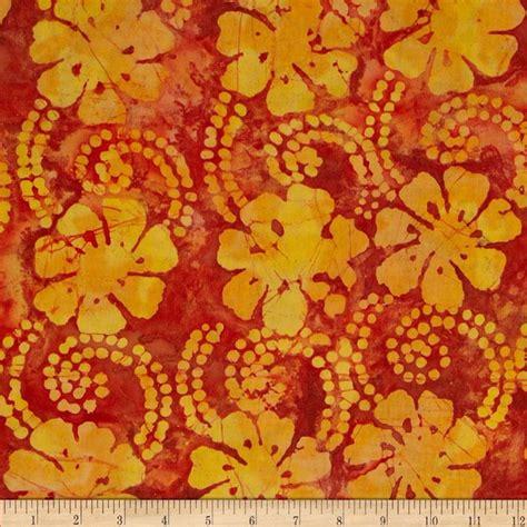 batik design of india indian batik floral vine yellow orange rust discount