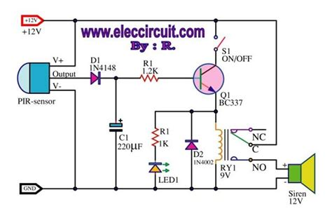image gallery motion detector circuit diagram