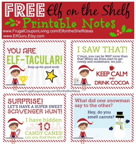 printable elf story the elf on the shelf ideas