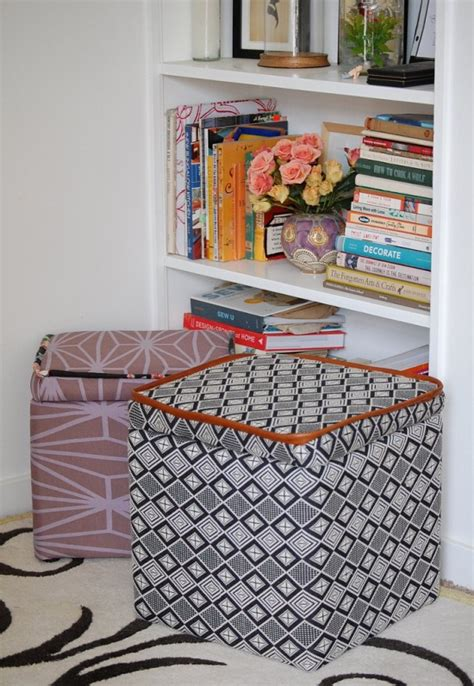 Make This Custom Storage Ottoman Diy Paper And Stitch Make Storage Ottoman