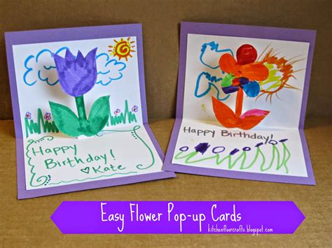 up cards to make kitchen floor crafts easy flower pop up cards
