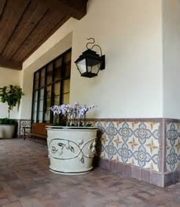 Outdoor Wainscoting Avente Tile Talk Encaustic Cement Tile As Wainscoting