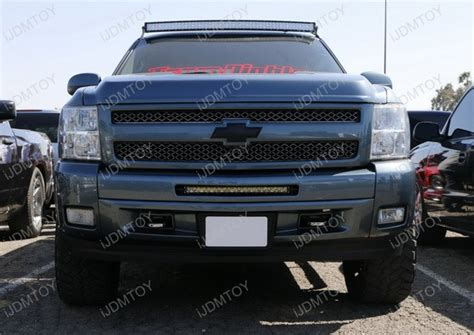 led light bar grill silverado ijdmtoy car for automotive led lights