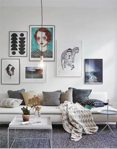 The Creative Living Room by 50 Favorite Gallery Wall Ideas Alternative Area
