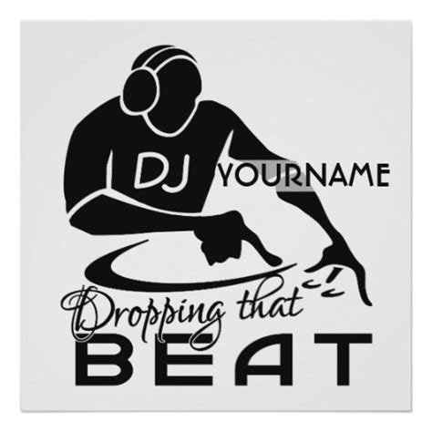 design dj poster dj custom poster zazzle