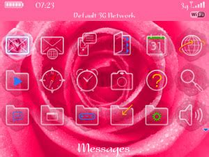 theme rose blackberry pink rose themes for blackberry os4 7 free blackberry