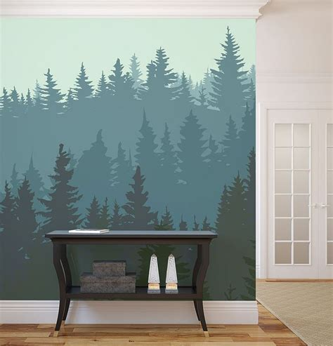 do it yourself wall murals 10 breathtaking wall murals for winter time diy wall do it yourself and pine
