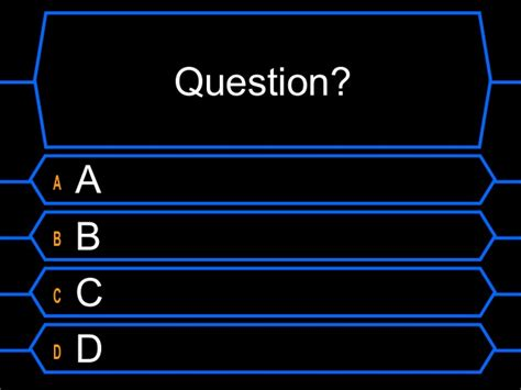 Millionaire Template Who Wants To Be A Millionaire Template With