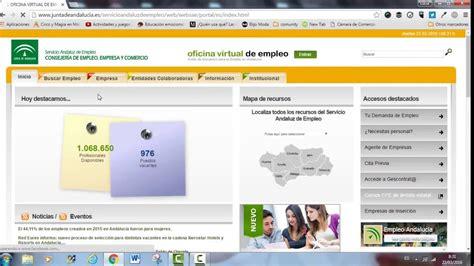 oficina virtual de empleo andaluz curriculum de la demanda en el servicio andaluz de empleo
