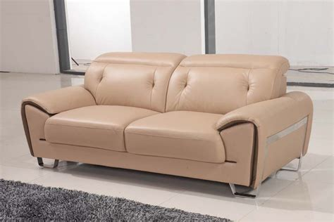 lovely beige contemporary half leather sofa set los