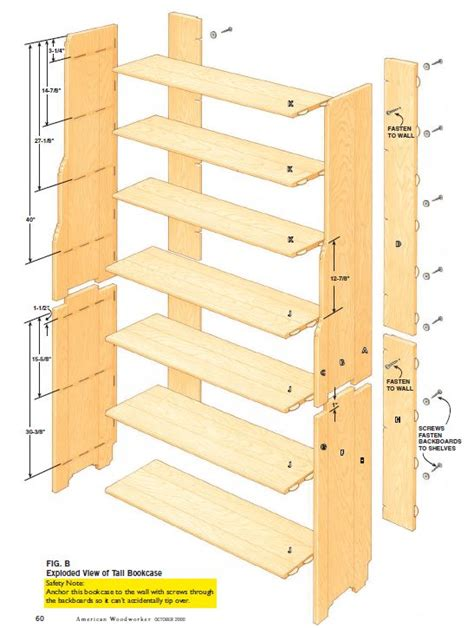 woodworking bookshelf plans with simple styles in us