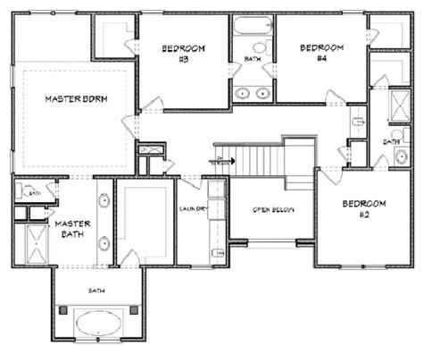 house blue print house 29331 blueprint details floor plans
