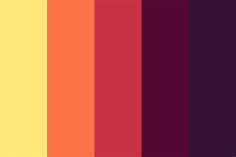 sunset color palette sunset in tokyo color palette