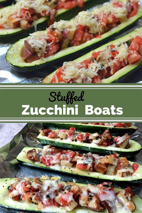 stuffed zucchini boats healthy stuffed zucchini boats