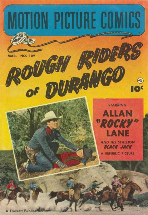 renegade cowboy rocky mountain riders books motion picture comics 109 fawcett comic book plus