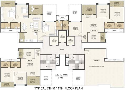 western floor plans kolte patil western avenue in wakad pune price