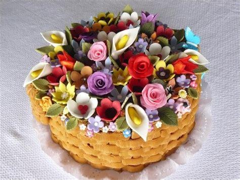 tortas decoradas en forma de canasta torta tipo canasta de flores de la peque 241 a pastelera las