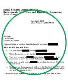 Social Security Award Letter By Mail Social Security Award Letter Crna Cover Letter