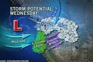 Weather Map Seattle by Substantial Snow Headed For Seattle This Week Salem News Com