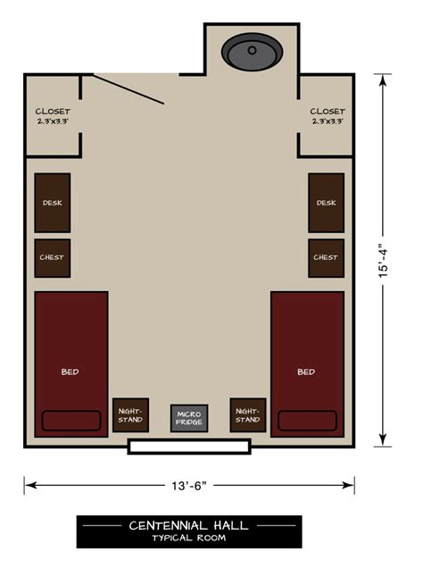 centennial floor plan west a m residential living centennial