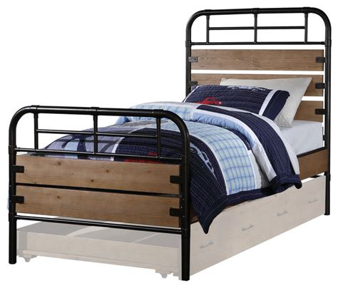 industrial twin bed adams twin bed antique oak finish industrial kids