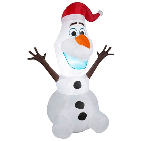 Outdoor Christmas Inflatable Yard Decorations by Boneco De Neve Infl 225 Vel Natalino Olaf Grande Enfeite