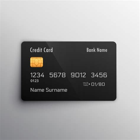 Credit Card Eps Template Black Credit Card Vector Free