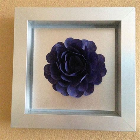 paper flower shadow box tutorial paper flowers colorado wedding gifts and accessories