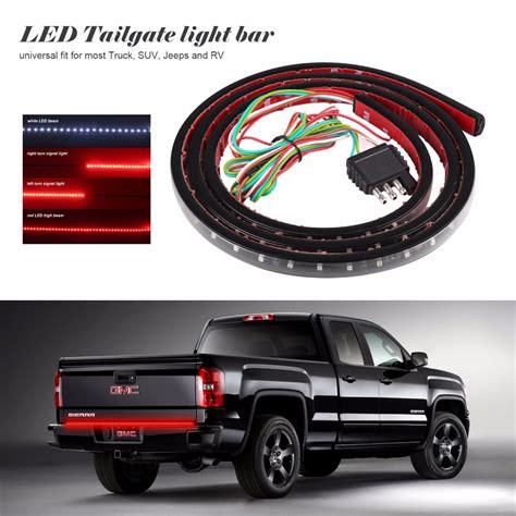 60 Quot Flexible Led Light Strip Tailgate Bar Backup Reverse 60 Led Tailgate Light Bar With Backup Light Function