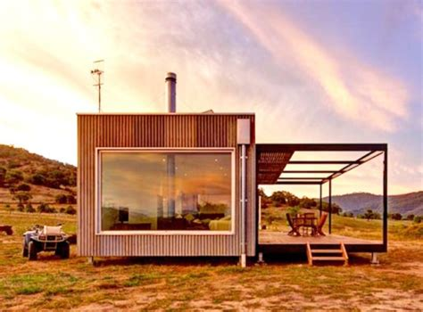 Small Prefab Homes New York Solar Powered Modular Cabin Exists Completely The Grid
