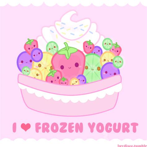 imagenes de yogurt kawaii frozen yogurt gif find share on giphy