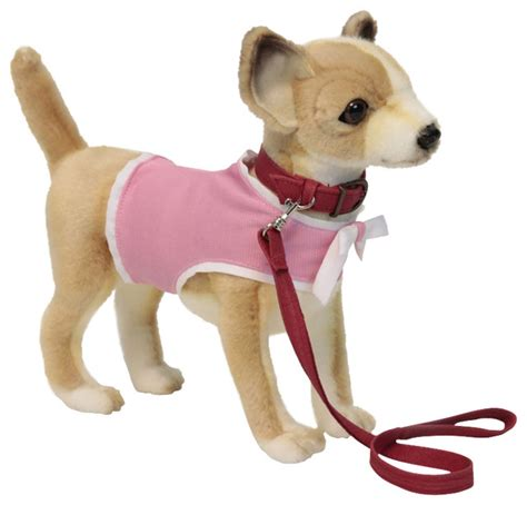 puppy toys for toddlers hansa chihuahua with pink coat and leash contemporary toys and by