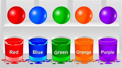 colors for toddlers colors for children learn with color balls color balls