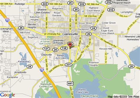 map of days inn gainesville university gainesville