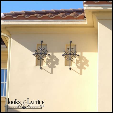 Home Exterior Decorative Accents | decorative iron window grills accents hooks lattice
